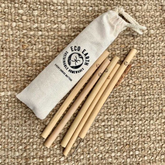 Bamboo Straws - set of 5
