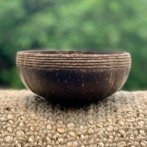 Coconut Bowl Hand carved Ebony Design