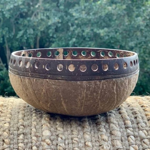 Coconut Bowl handcarved - RUSTIC design