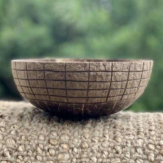 Coconut Bowl Hand carved Scottish Design