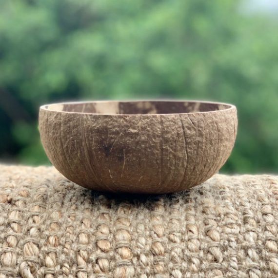Coconut Bowl Handcarved Rough Design