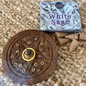 Incense Holder – White Sage cones