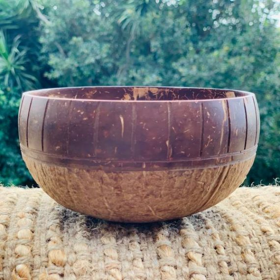 Coconut Bowl Handcarved Savannah Design