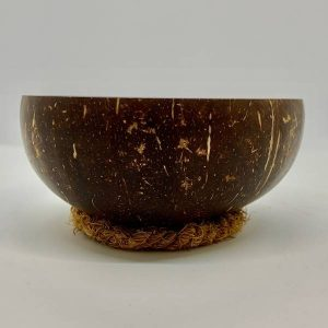 Coconut Husk Serving Rings with bowl